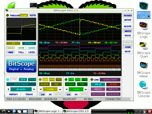 BitScope Raspberry Pi Oscilloscope Software.