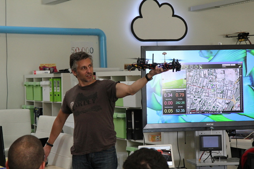 Ian from MakerDrone speaking about Quadcopters.