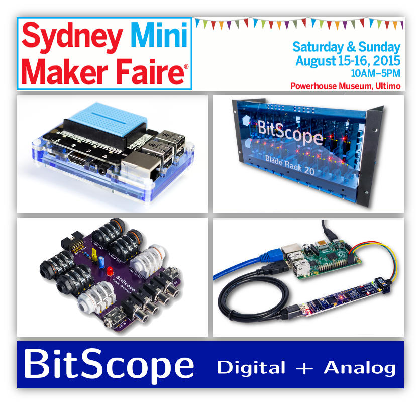 BitScope at Sydney Maker Faire